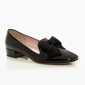 ♠️Kate Spade Gino Patent Leather Bow Loafer Black
